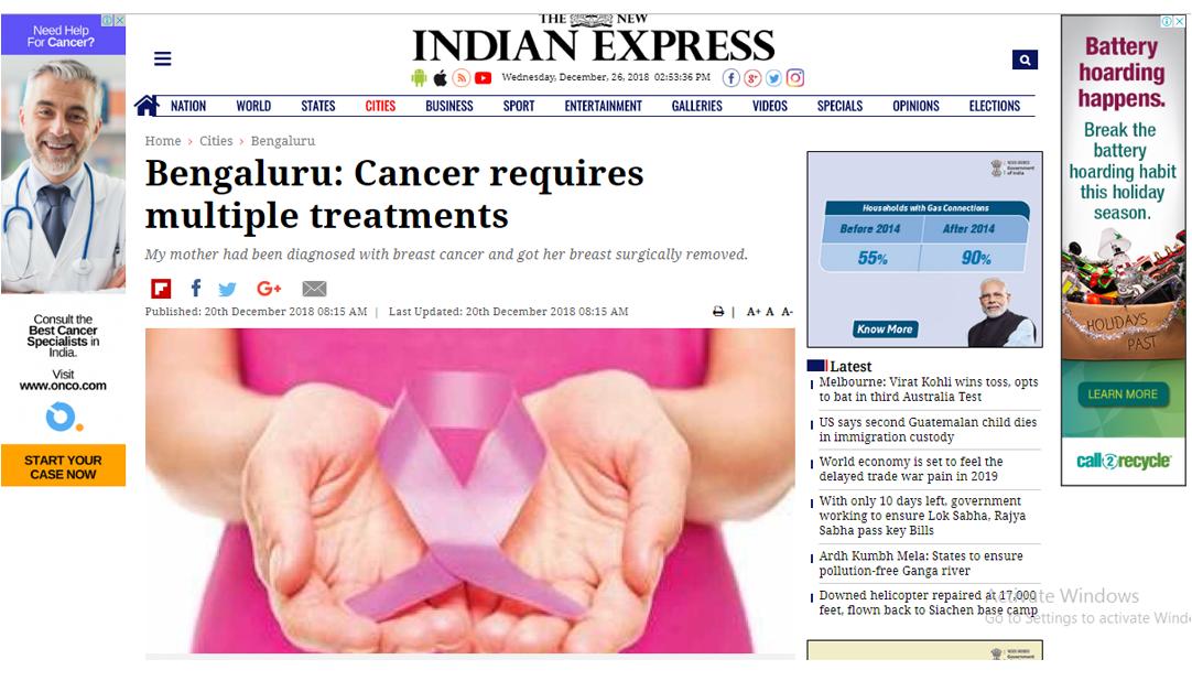 Dr Sandeep Nayak : Cancer requires multiple treaments