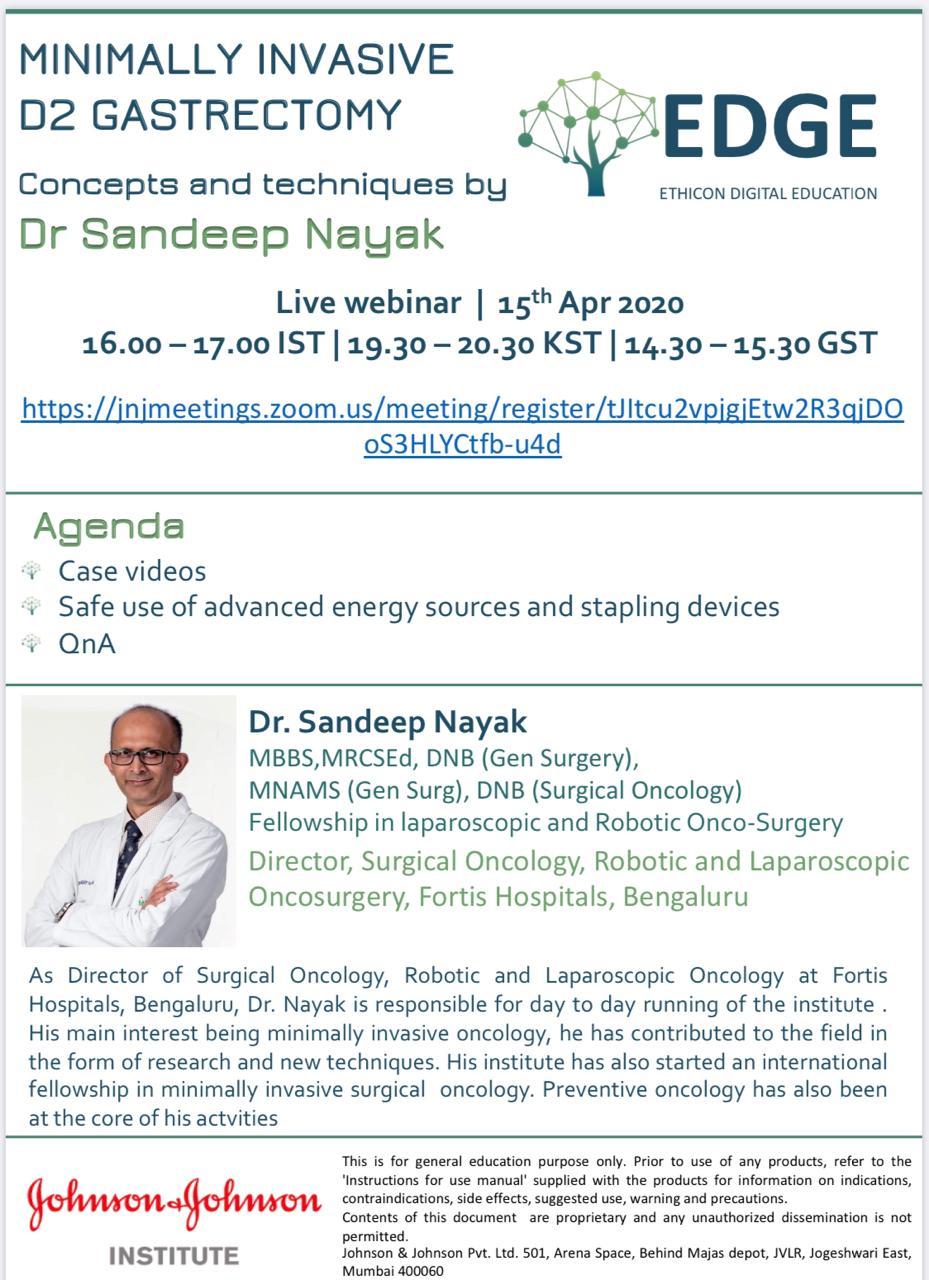 EDGE live webinar by Dr Sandeep Nayak